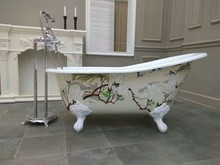 outdoor freestanding enameled bathroom furniture adult portable cast iron bath