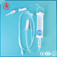 Latest promotion price sterile pediatric iv infusion set with burette