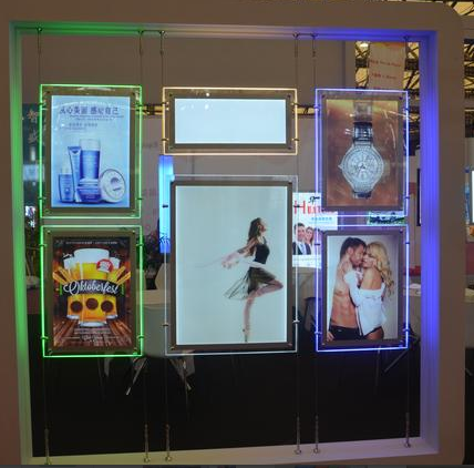 window display diy poster led acrylic double sides crstal slim light box