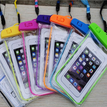 Transparent PVC Waterproof Phone Case With Shoulder Strap For mobile Phone Waterproof Bag