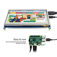 7 inch display with 1024 X 600 Resolution Capacitive touch Option,HDMI Interface TFT Monitor Module Supports all Raspberry Pi 3