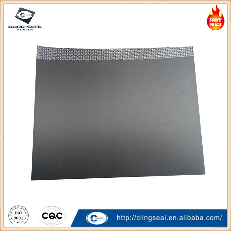 Reinforced composite tanged expanded graphite cylinder head gasket sheet