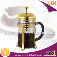 Golden color coffee pot,coffee plunger,stainless steel french press golden B04