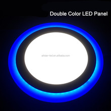 2017 New Panel light LED Downlight 3 w 6 w 12 w 18 w Double color AC85-265V LED SMD2835 led panel light 3w