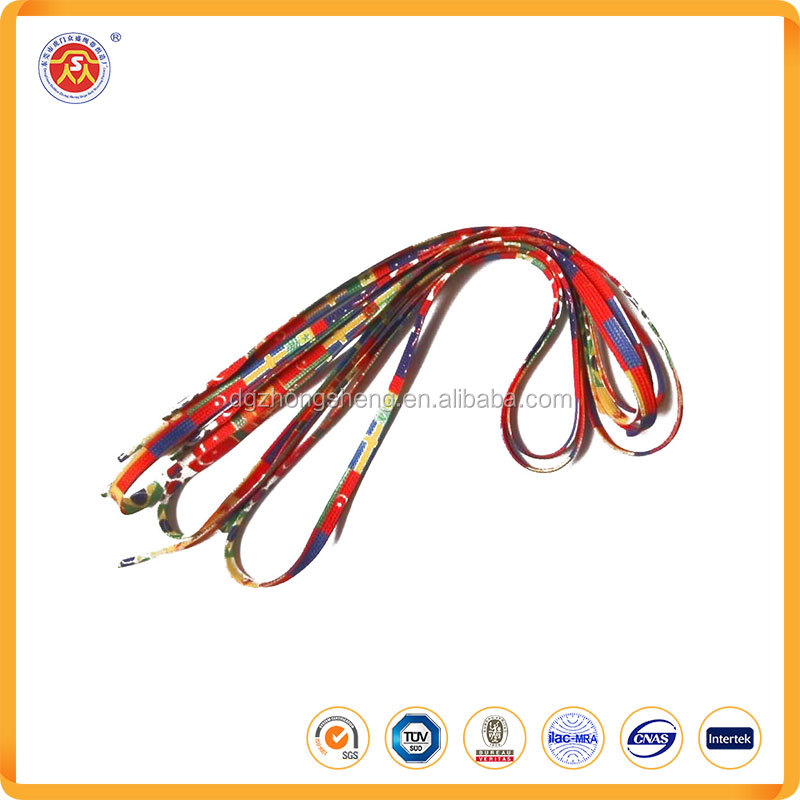 China wholesale promotional sublimation printed for polyester shoelaces