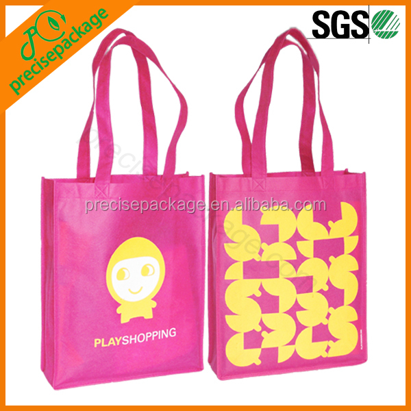 Fashion coated non woven laminated shopping bag with handle