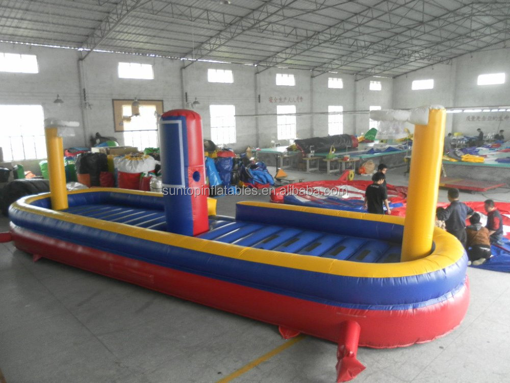 good sales ST-ST548 inflatable bungee basketball tunnel game 2 palyers for kids and adult