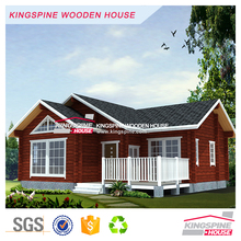 Low cost Two-bedroom wooden house Prefabricated cabin kits
