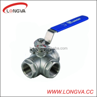 Stainless Steel 3 Way Ball Valve (T/L port)