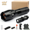Handheld Portable Aluminum Zoomable Police Tactical LED Flashlight