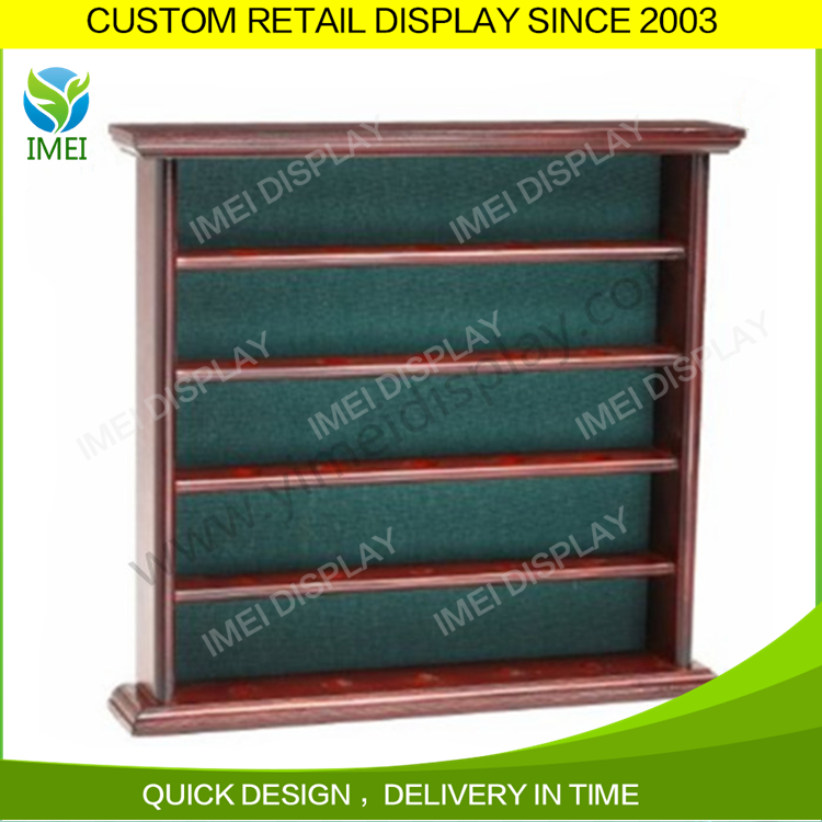 Custom shape design wooden tennis ball baseball display cabinet