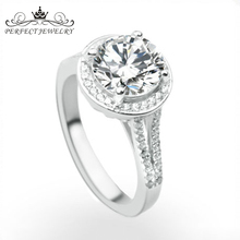 Perfect jewelry factory custom ladies rose shaped silver latest design diamond ring for engagement
