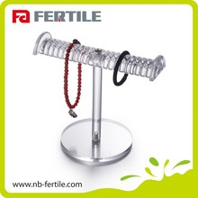 FERTILE Welcome OEM table top T bar rack hanging jewelry organizer
