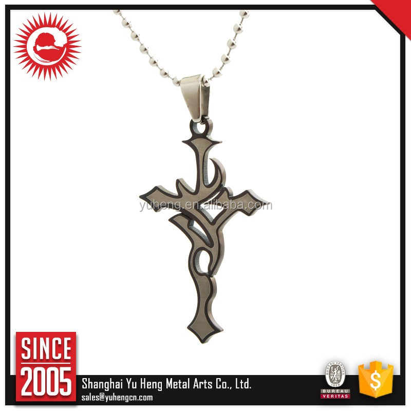large stock trade assurance stainless steel cross pendant