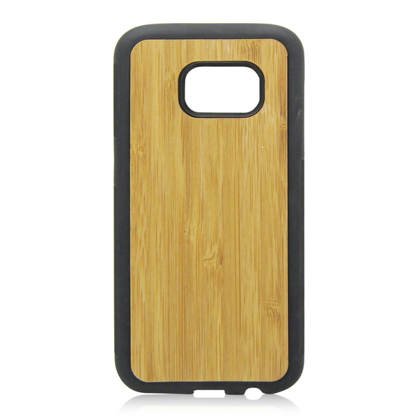 Wood mobile phone case PC bottom TPU rim phone shell protective back cover for Samsung S7