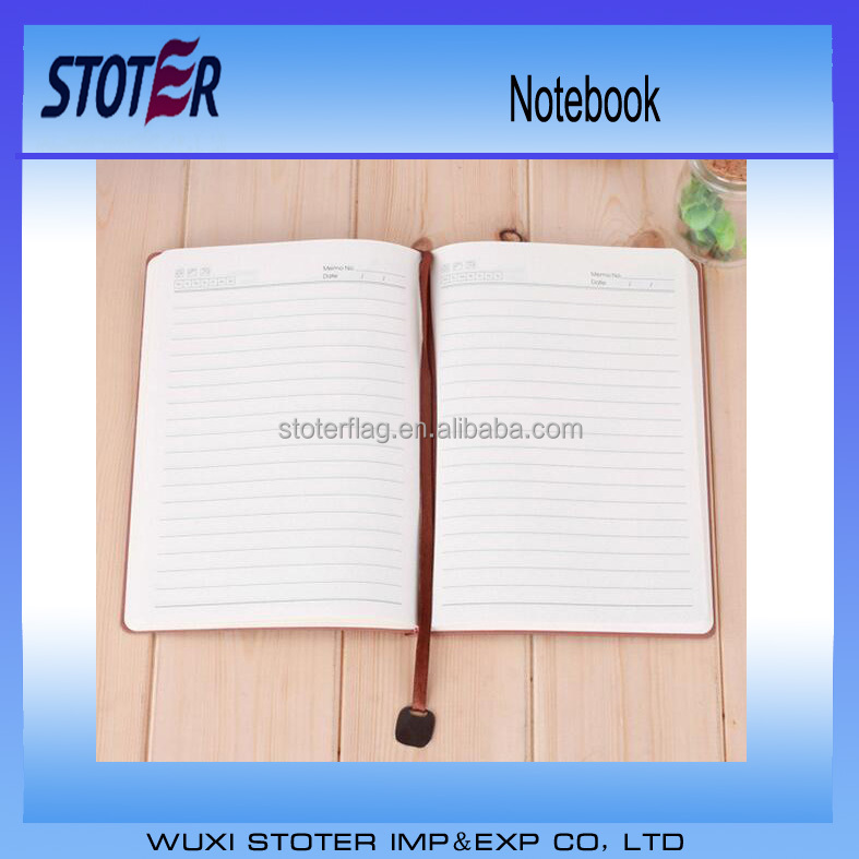 diary notebook with book mark