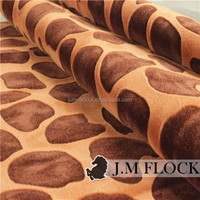 Haining furniture Square Pattern fabric and textile flock on flock flocked velvet upholstery fabric for antique furniture