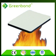 Greenbond 0.3/0.4mm aluminum thickness lightweight fireproof material panel