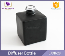 fashionable black square 150ml aroma reed diffuser bottle