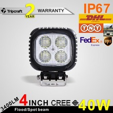 "3400LM 40w 4"" 12v led light offroad , crees motorcycle headlight with 4 leds chips"
