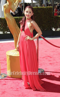 Celebrity Inspired Ariana Grande 2012 Creative Arts Emmy Awards Red Carpet Halter Gorgeous Dress