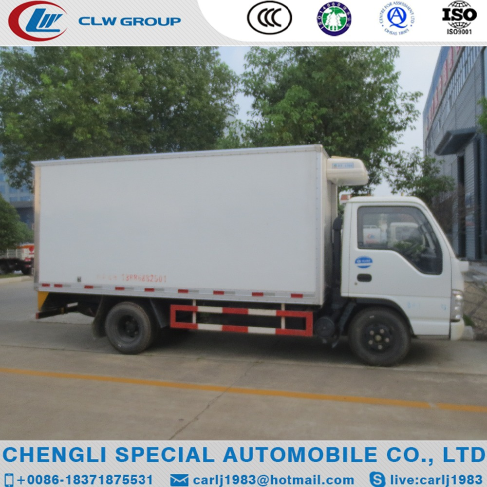 Low price hot sale dongfeng 120hp refrigerated vehicle