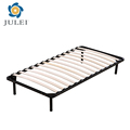 High end double size slatted metal bed frame with low price