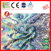 UV CUT Flower Printed Imitated Silk Chiffon Fabric for Dress
