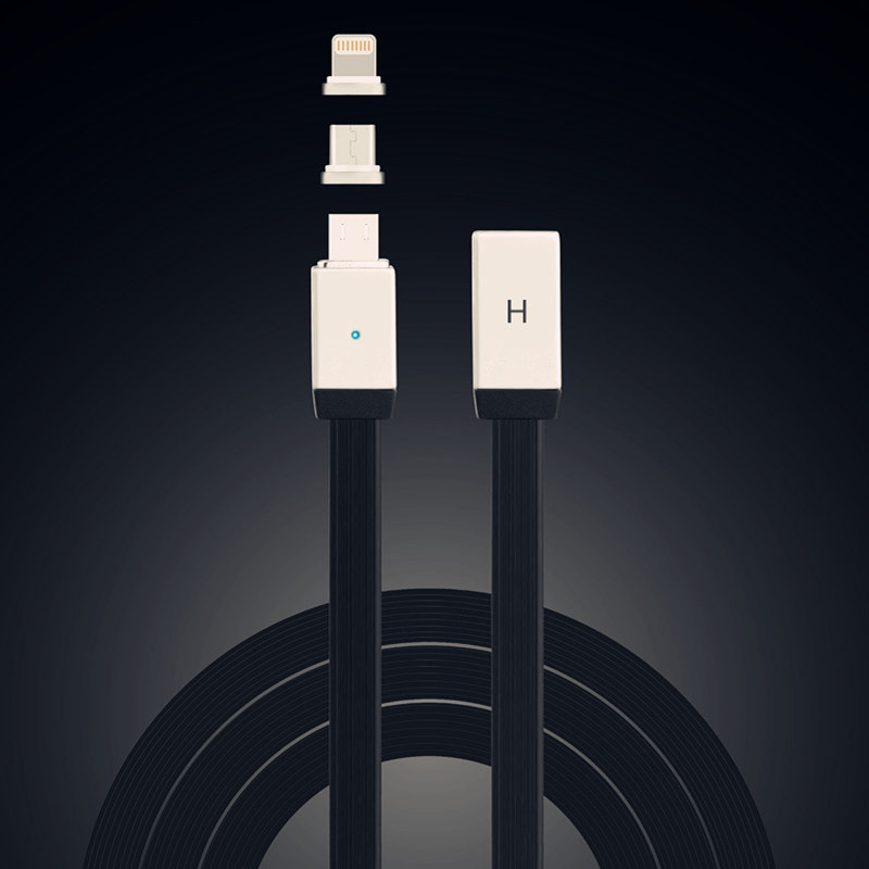 Latest Inovative Products Magnetic Magnet USB Charging Data Cable For Apple I0S10 iPhone 5S 6S 7 For Xiaomi For Huawei P10
