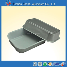 Takeaway rectangular aluminum foil airline food container