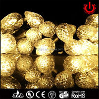 2016 pointed fruit battery LED operated string lights