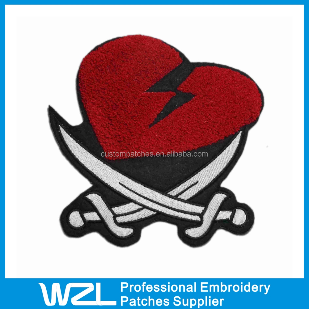 Custom Made barato personalizado bordado Chenille Patches