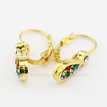 colourful crystal stud earrings artificial jewellery online