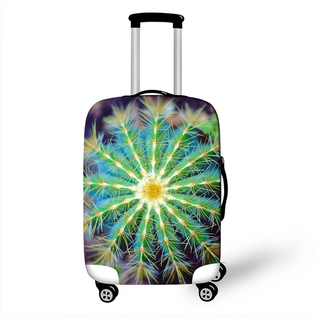 3D Ladybug Floral Cacti Travel Luggage Suitcase Protective Cover Waterproof Luggage Cover For <strong>18</strong> - 28 Inch Suitcase