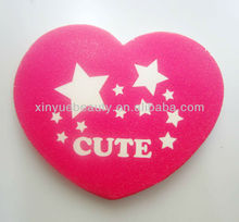 Heart shape nail file with logo