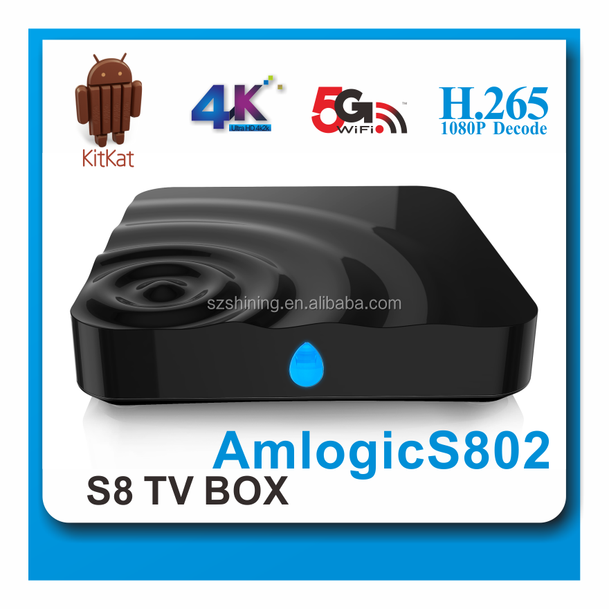 New arrival and Hot selling ! Quad Core S8S M8S S812 Google Android TV Box with 1000M LAN Android 5.1 Smart TV Box