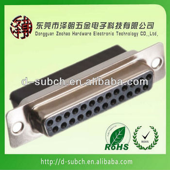 d-sub connector DB 25P Female crimp connector