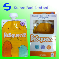 refillable food & drink pouch/BPA, PHTHALATE,PVC free baby food pouch