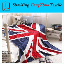 super soft and warm UK Flag fleece sherpa blanket lambwool reversible two different textures