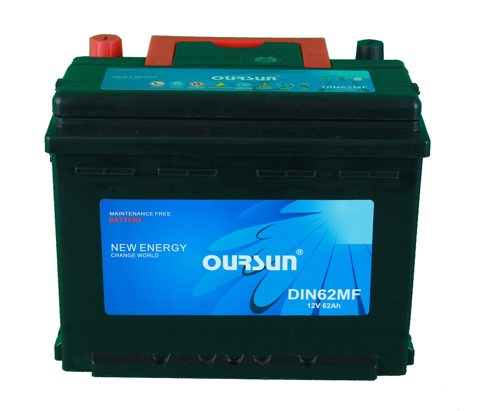 Europea Standard DIN62MF 62AH 12V High quality car battery With higher 15% CCA than normal quality