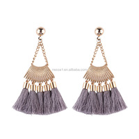 Fashion glod plated latest gold earring designs wholesales NSJ-001