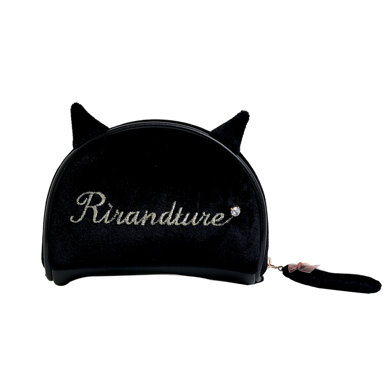 Manufacture of custom taobao hot sale personalized cosmetic bags Super cute Cat makeup bag portable small cosmetic bag