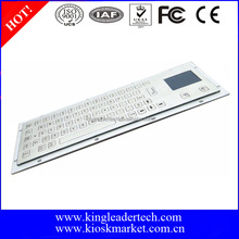 Flat keys metal keyboard with built in mouse