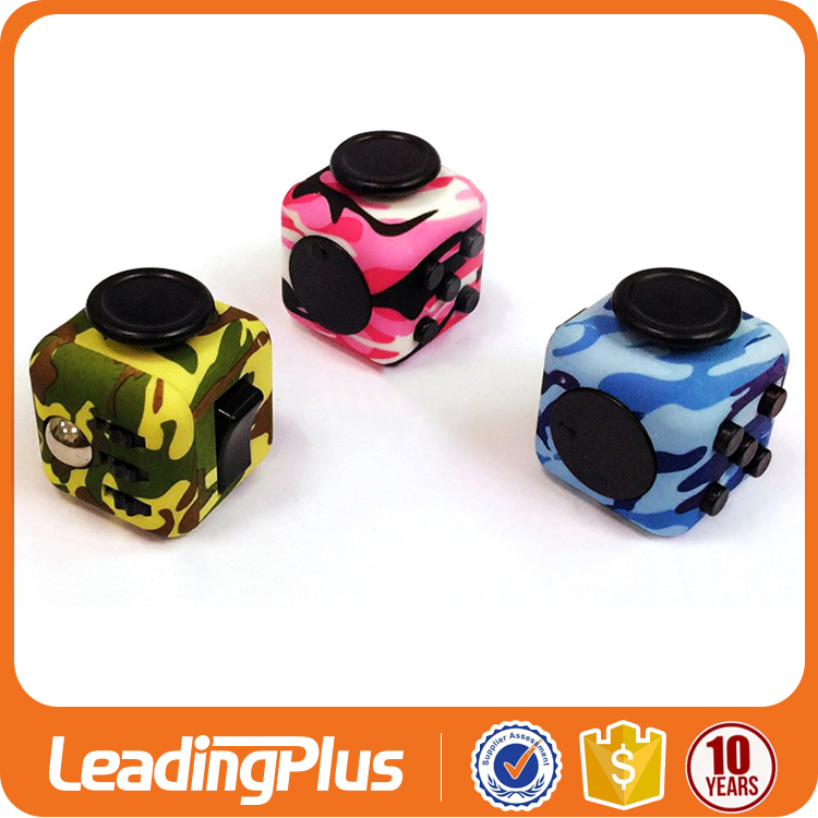 Private Label Camouflage Six sides relax hand toy fidget cube, magic cube, anti stress cube