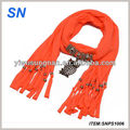 Latest fashion New design owl pendant scarf, pendant jewelry Scarf