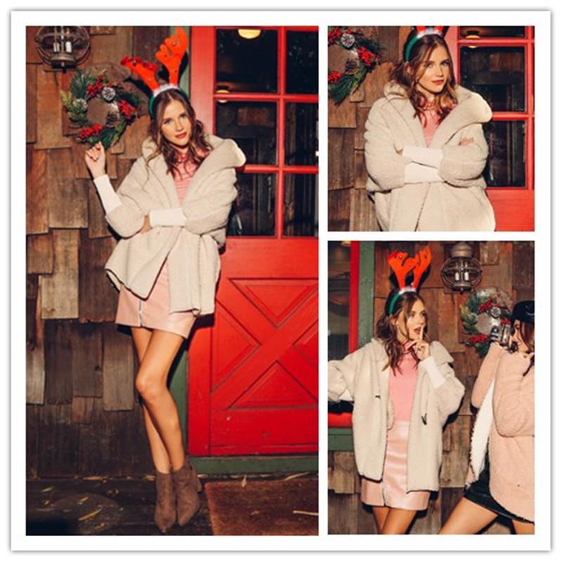 SHEIN Women Apricot Batwing Long Sleeve Trench Coat