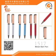 Red Roller pen novelty gift pens twist clip for logo printing