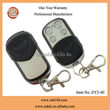 ZY2-4E,Latest design,4button,waterproof metal wireless garage door remote holder,wireless door remote control