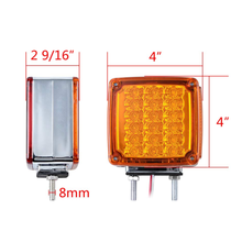 LED Stop Turn Tail Signal Double Face Light for Kenworth Volvo