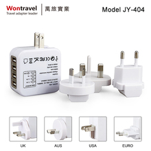 JY-404 Worldwide universal adapter plug Universal 4-Port USB AC Power Wall Charger multipurpose travel adapter
